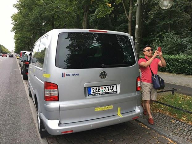 Chiếc xe biển số Czech đã được mật vụ Việt Nam dùng để bắt cóc ông Trịnh Xuân Thanh hôm 23/07/17, đưa vào Đại sứ quán Việt Nam ở Berlin, Đức.