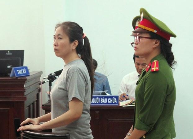 Blogger Mẹ Nấm, Nguyễn Ngọc Như Quỳnh tại phiên tòa xử bà vào năm nay, 2018.