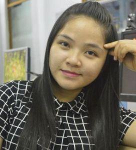 Cô Trịnh Thị Ngọc Kim, thư ký phân ban hải ngoại của nghiệp đoàn sinh viên Việt Nam
