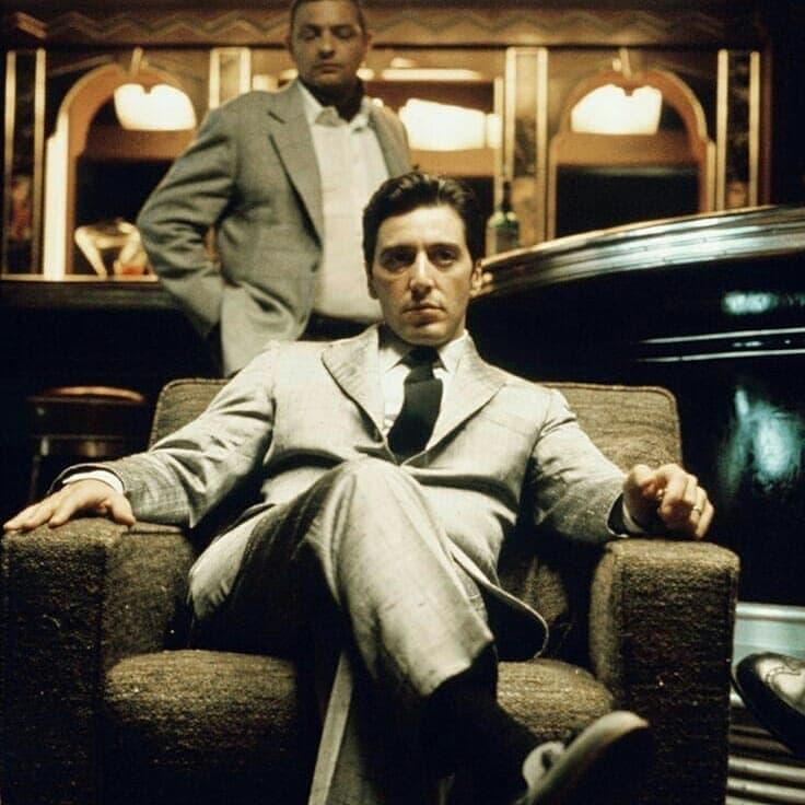 Michael Corleone, con trai và người kế nghiệp ông trùm Vito Corleone.