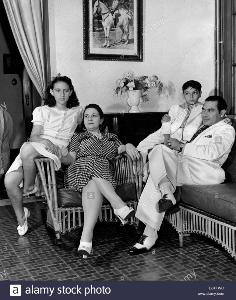 Ảnh: Gia đình tổng thống Batista.
