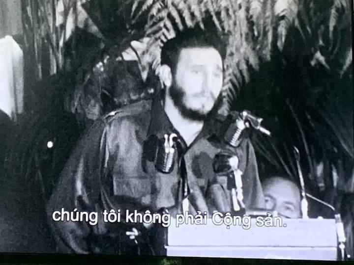 Ảnh 1b: Sau khi cướp được chính quyền từ Batista, Phidel tuyên bố trước báo chí quốc tế: